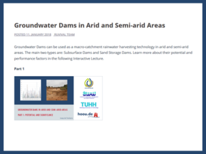 Groundwater Dams Overview