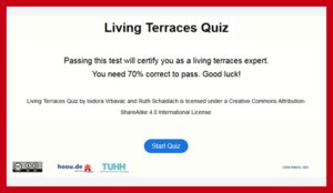 Living Terraces Quiz
