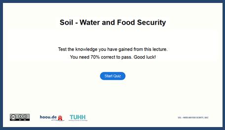 Soil - Water & Food Security Quiz