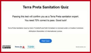 Quiz Terra Preta Sanitation