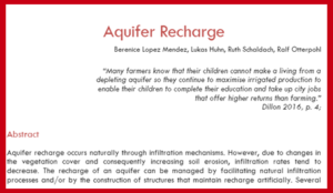 aquifer recharge literature review