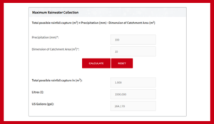 Rainwater Collection Calculator
