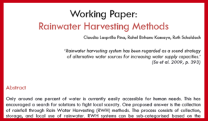 Rainwater Harvesting Methods Literature Review