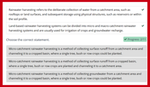 Land-based Rainwater Harvesting Summary