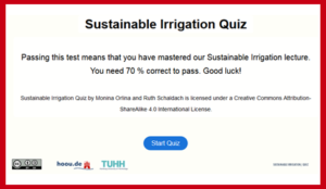 sustainable irrigation quiz