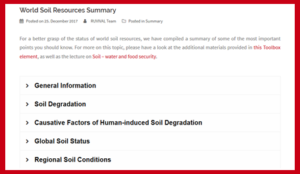 world soil resources summary