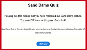 Sand Dams Quiz