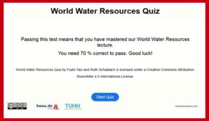 world water resources quiz