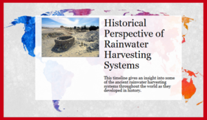 Traditional Rainwater Harvesting Systems Timeline