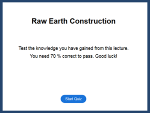 Quiz Raw Earth Construction