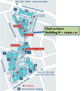 Find us here: University of Technology Hamburg, Building H, Room 0.09