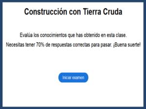 Examen Construcción con Tierra Cruda