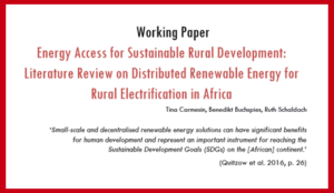 Rural Energy Systems Literature Review