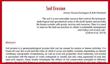 literature review of soil erosion