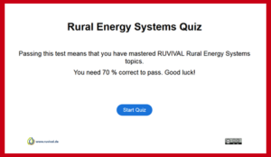 Rural Energy Systems Quiz