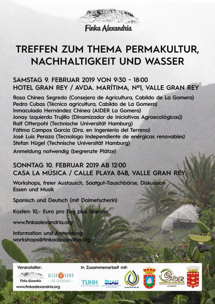 Poster Conference on Permaculture, Sustainability and Water La Gomera