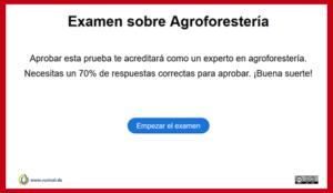 Examen sobre agroforesteria
