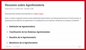 Resumen sobre Agroforestería