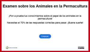 Examen animales en la permacultura