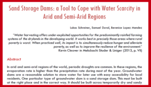 Working paper on sand dams